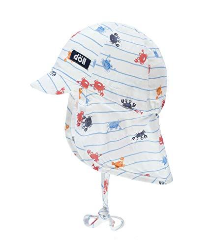 Döll® Baby Jungen Sonnenhut mit Nackenschutz, Größe:43, Präzise Farbe:Blau