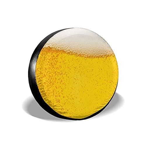 Lewiuzr Cerveza con Espuma Potable Poliéster Rueda de Repuesto Cubierta de llanta Cubiertas de Rueda Ajuste Universal