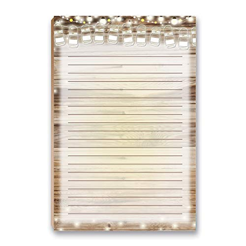 """Rustic To Do List Notepad with Magnet - 8.5"""" x 5.5"""" - Grocery, Shopping, Daily Tasks List - Rustic Barnwood Notepad(Barnwood)"""