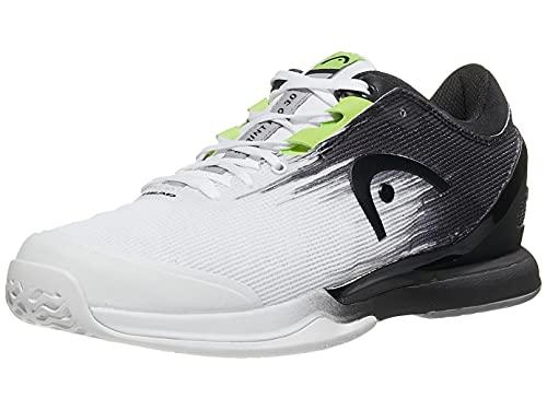 HEAD Sprint Pro 3.0 Men WHRV, Zapatillas de Tenis Hombre, Blanco y Negro, 42.5 EU