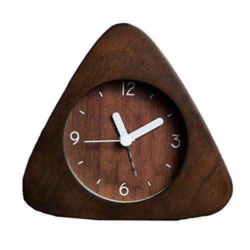 XT Massief houten wekker Stil alarm clock Student mini klok nachtkastmodus Luminous wekker
