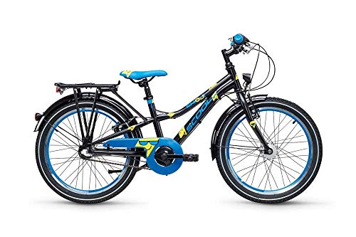 Kinder Fahrrad S'COOL Xylite Emoji 20-3S NEX Black/Blue matt