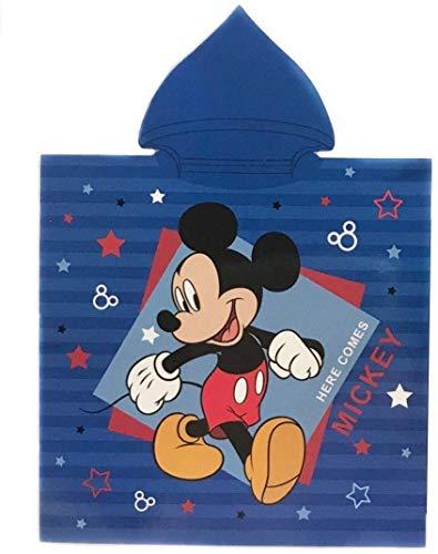 Mickey Poncho Toalla Microfibra, Toalla con Capa Disney 50x100cm