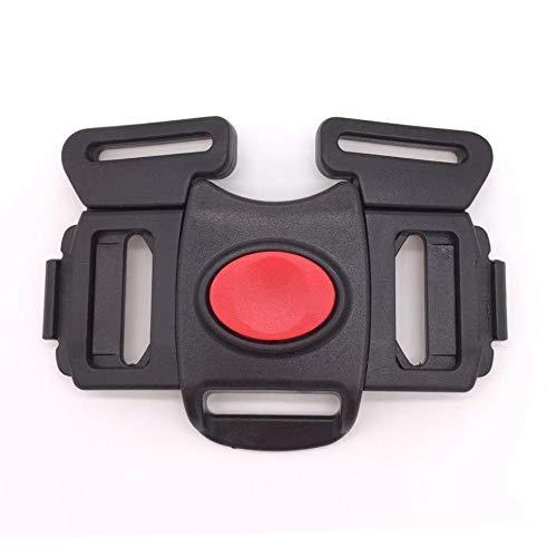 Fitzulam Sangle de harnais en plastique boucles pour poussette / chaise haute 5 points harnais de sécurité clip 25mm (Noir-A)
