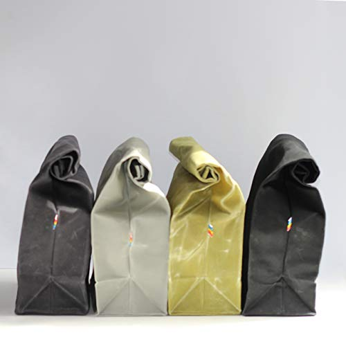 Lunch Bag - Waxed Canvas - Available in Assorted Colors