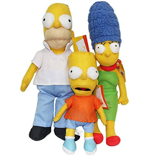 Giocattoli di Peluche di Peluche Simpson Famiglia Homer J. Marge Bart Regalo di Bambola Farcito per Bambini Fan Film Anime Compleanno Natale 40cm 3pcs