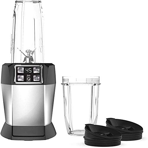 MiaoMiao Feed with 1000 Watt Auto-IQ base for smoothies and juice shakes Personal blender 18 and 24 ounces.Black silver