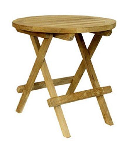 Java-Exclusiv Ambientehome 62784 Table d\'appoint en teck Ø 40 cm
