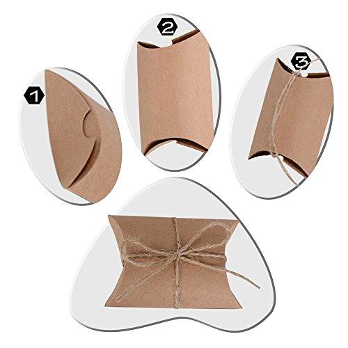Geschenkboxen aus Kraftpapier |100 Stück - 3