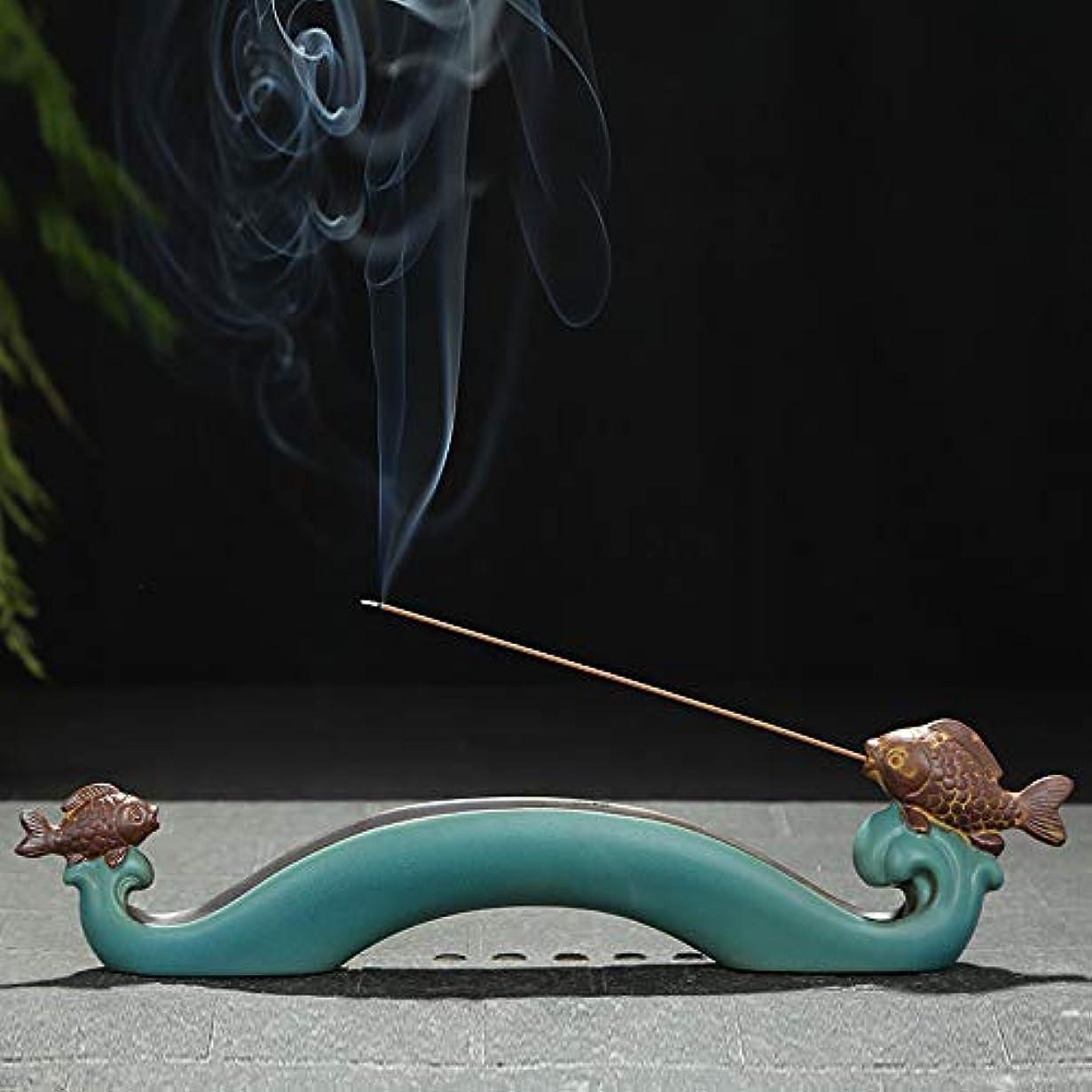 製造腹痛きれいにPHILOGOD 香炉 陶器クリエイティブ鯉のスタイリング線香 香立てお香 ホルダー 香皿