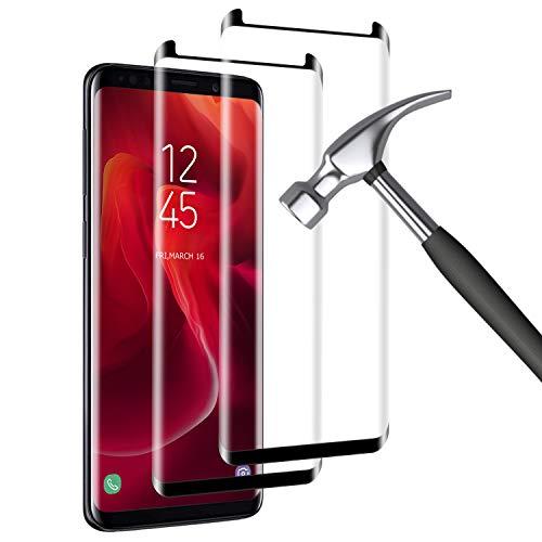 IceboyHHH Verre Trempé pour Samsung Galaxy S8, [2 Pack] [Dureté 9H] [sans Bulles] [3D Bord Rond] [Haute qualité] HD Anti Rayures Film Protection écran pour Samsung Galaxy S8