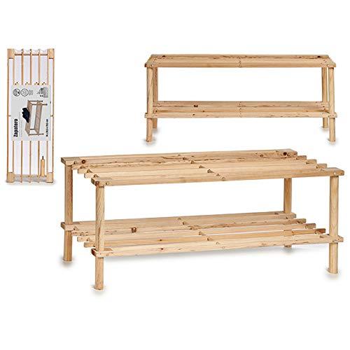 amara-global Dynamic24 - Zapatero (madera, 3 estantes, apilable, 2 estantes)