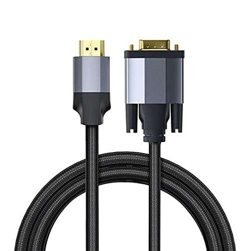 MARSPOWER Cable Adaptador de Interruptor Compatible con HDMI a Vga computadora, proyector de TV, convertidor Divisor de Alta definición para Oficina, Negro 1m