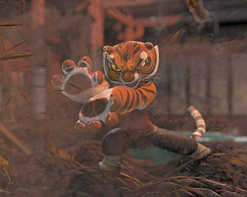 TTbaoz Rompecabezas Juguetes Juego Regalo (38 * 26 cm) Kung Fu Panda Tigresa Practicando Artes Marciales - 1000 Piezas Rompecabezas Rompecabezas para Adultos Rompecabezas Adulto