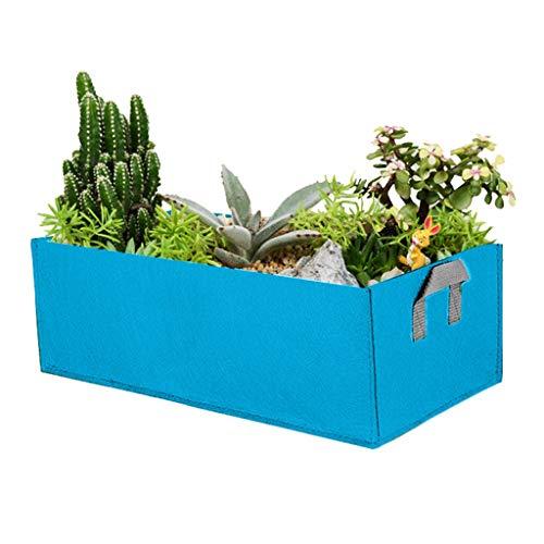 Gemüsebeutel Pflanzen Taschen aus Vliesstoff, 40X30X20CM Pflanzsäcke Garten Wachsende Tasche,Pflanzbeutel Pflanztasche Wachsende Tasche Kartoffelsack zum Kartoffeln, Tomaten (Blau)