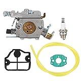 NOBRAND Husqvarna 36 Carburetor, carburador Kit Fit for Husqvarna 36 41 136 137 141 142 Motosierra Fit for Zama C1Q- W29E