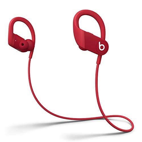 Powerbeats Wireless High-Performance In-Ear Kopfhörer - Apple H1 Chip, Bluetooth der Klasse 1, 15 Stunden Wiedergabe, Schweißbeständige In-Ear Kopfhörer - Rot (Neuestes Modell)