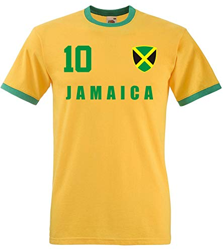 aprom Jamaika Ringer T-Shirt Fußball Trikot All-10 GE (S)