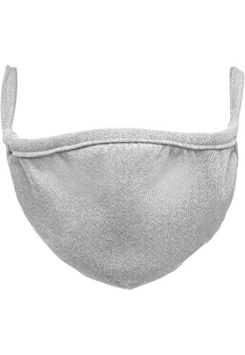 Urban Classics Unisex-Adult Cotton Face Mask 2-Pack Alltagsmaske, Heather Grey, one size