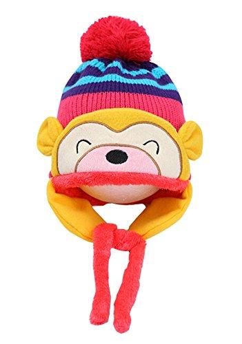 Mode bébé Chapeaux d'hiver Bonnet Cache-oreilles bébé Chapeaux Rose, 1–4 ans