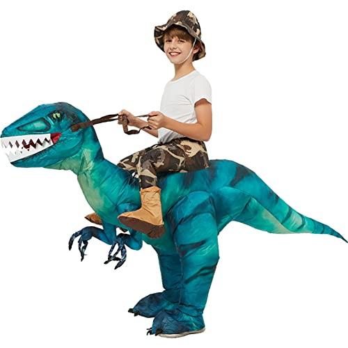 Disfraces de Halloween Hombres Mujeres Jinete de dinosaurio, Disfraz inflable para adultos, Disfraz inflable para juguete unisex 100-120cm