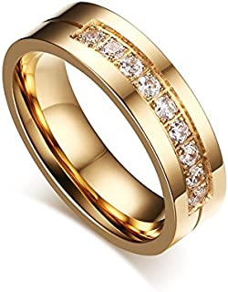 Vnox Trendy Wedding Bands Ring Love Ring For Women