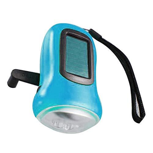 YXDS Torcia Mini 3 LED Torcia a manovella ad energia Solare Torcia Ricaricabile a LED di Emergenza Tenda da Campeggio Torcia Portatile per Uso Esterno