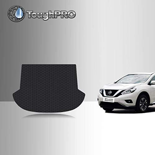 TOUGHPRO Cargo/Trunk Mat Accessories Compatible with Nissan Murano - All Weather - Heavy Duty - (Made in USA) - Black Rubber - 2015, 2016, 2017, 2018, 2019, 2020, 2021