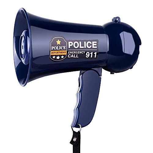 MyMealivos Pretend Play Kids Policeman's Megaphone Birthday International Children's Day's Gift. Handheld Mic Toy