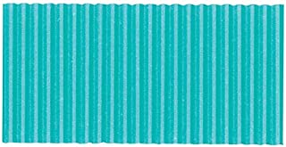 Corobuff Solid Color Corrugated Paper Roll, 48 Inches x 25 Feet, Azure Blue