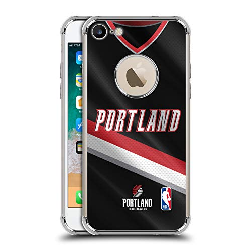 Officiële NBA Road Jersey 2018/19 Portland Trail Blazers Zilver Shockproof Fender Case Compatibel voor Apple iPhone 7 / iPhone 8