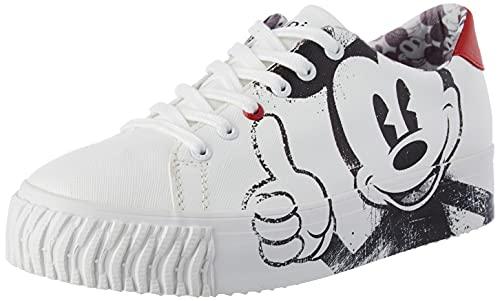 Desigual Shoes_Street_Mickey, Zapatillas Mujer, Blanco, 37 EU
