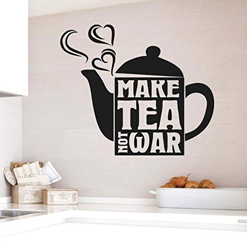 Tianpengyuanshuai Vinyl Wandaufkleber Kaffeekanne Muster abnehmbare Wandtattoo Wohnzimmer Küche Wanddekoration 36X56cm