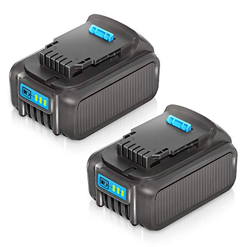 20V 6.0Ah Replacement Battery DCB206 DCB205 DCB204, 2-Pack Lithium Ion Batteries Compatible with Dewalt 20V Cordless Power Tools DCB205-2 DCB200 DCB180 DCD985B DCD771C2 DCS355D1