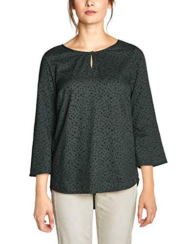 CECIL Damen 341578 Bluse Mehrfarbig (slate green 21687) Medium (Herstellergröße:M)