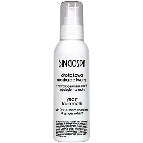 BINGOSPA Hefe-Gesichtsmaske mit Ingwer-Extrakt gegen Akne und Pickeln - 150 g