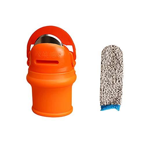 HQYXGS Xzhyue - Recogedor de frijoles para el pulgar, cortador de frijoles, herramienta de recogida de plantas, utensilio de cocina (L)