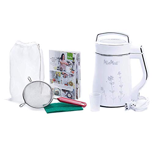 MioMat  MultiFunctional Soy Milk Nut Milk Soup Smoothie Maker Stainless Steel 5 in 1 the only with Nanocutting technology Soups  Baby Food Maker  Porridge  Smoothie  Vegetable Milk  Soy Milk  Nut Milk  Automatic Machine ready at a Push of a Button