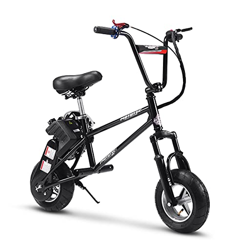 TOXOZERS Gas Mini Bike 49cc Dirt Bike Gas Powered with Two Stroke and Adjustable Seat Height (Black)