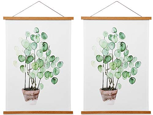 Magnetic Poster Frame Hanger, Natural Teak, 8x10 8x12 8x18 Poster Hanger for Photos, Pictures, Prints, Maps, Scrolls and Canvas Artwork