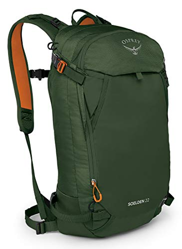 Osprey Soelden 22 Men's Ski Backpack, Dustmoss Green, One Size