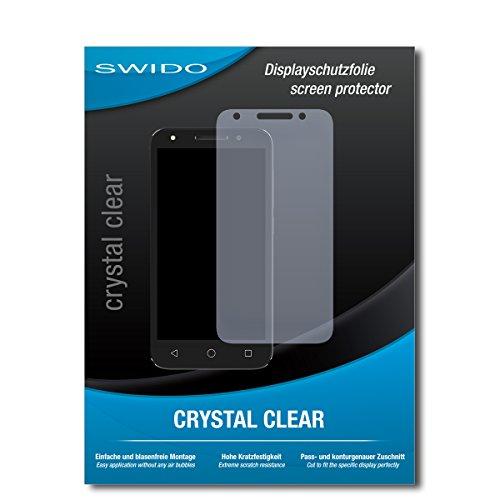 SWIDO Schutzfolie für Alcatel U5 [2 Stück] Kristall-Klar, Hoher Festigkeitgrad, Schutz vor Öl, Staub & Kratzer/Glasfolie, Bildschirmschutz, Bildschirmschutzfolie, Panzerglas-Folie