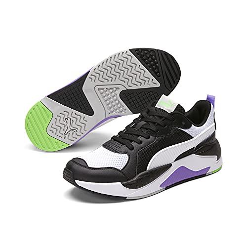 PUMA X-Ray, Zapatillas Hombre, Black White Fluo Green Luminous Purple, 37.5 EU