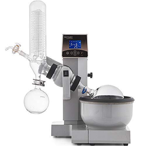 VEVOR 2L Rotationsverdampfer set 40W Rotary Evaporator Laboratory Equipment Rotavap Rotovap Rotavapor Laborgeräte Heating Water Bath mit Auto Lift