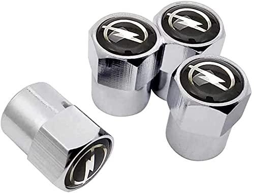 Coche Neumático Tapas Válvulas para Opel Astra H G J Insignia Mokka Zafira Corsa Ampera Antara Vectra Meriva, Antirrobo Antipolvo Resistente Agua Decoración Accesorio