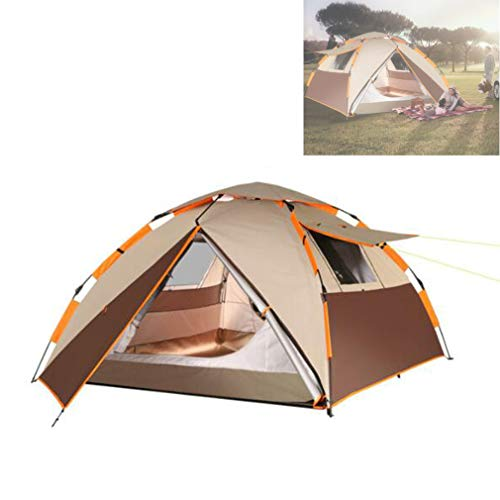 HSBZLH Rainproof And Sunscreen Outdoor Tents, Can Quickly Build A Field Camp, Fully Automatic, High Safety, Suitable for Friends And Family To Go Out And Play, Can Accommodate 3-4 People
