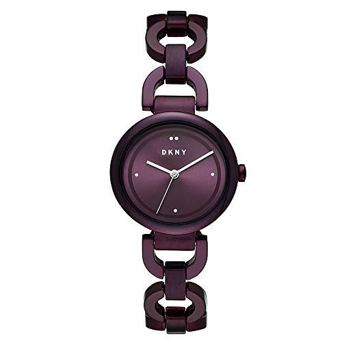 DKNY NY2834 Reloj Dkny Dama, Extensible Acero Morado, Caratula Morado, Analogo for Accesorios, Morado, Mujer Estándar
