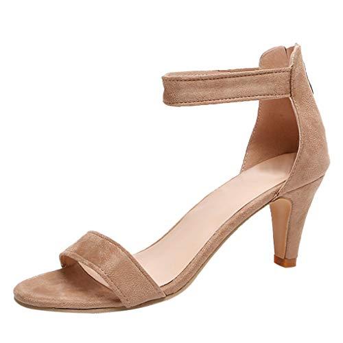 Dorical Damenschuhe High Heel Sandalen Sandaletten 6.5 cm Kitten-Heel Peep Toe Wildleder Pumps...