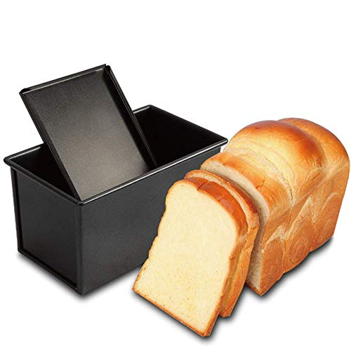 Glass bakeware is immune to excessive temperatures, Safety Bread Baking Mould Cake Toast, Loaf Pan With Cover, Non-Stick Toast Box with Lid, Vented Hole for Rapid Baking present