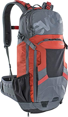 Evoc Mochila protectora unisex para Enduro de 16 l, Unisex adulto, Protector Backpacks, 100107126-M/L, gris y rojo, M-L